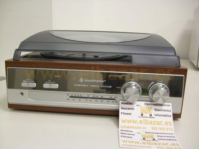 Tocadiscos Plato giradiscos con Radio estilo 70 | Comprar ahora |El Bazar