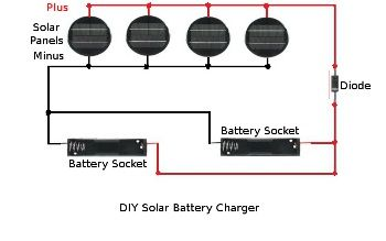 Homemade Solar Battery Charger Schematic Diagram From Garden Lights Solar Battery Charger Battery Charger Solar Charger