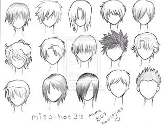 Anime Hair Ideas Manga Hair Anime Hair Manga Drawing