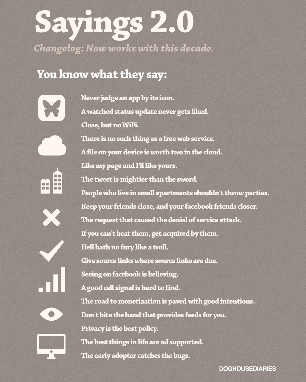 Famous Sayings Famous Sayings Reinterpreted For The Digital Age Comic  Digital