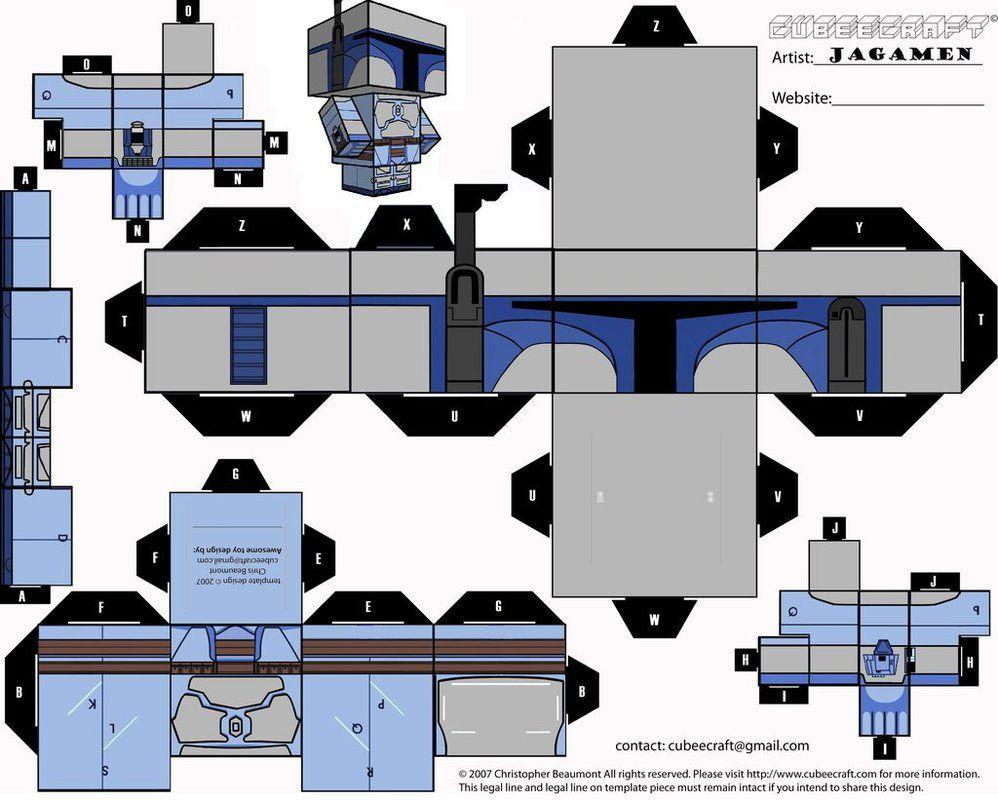 cubercraft de star wars todos jango fett star and papercraft. Black Bedroom Furniture Sets. Home Design Ideas