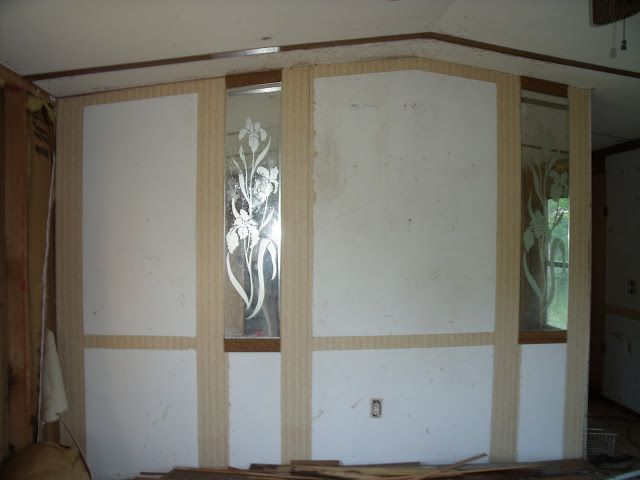 Beau Complete Mobile Home Remodel Accent Wall Without Trim