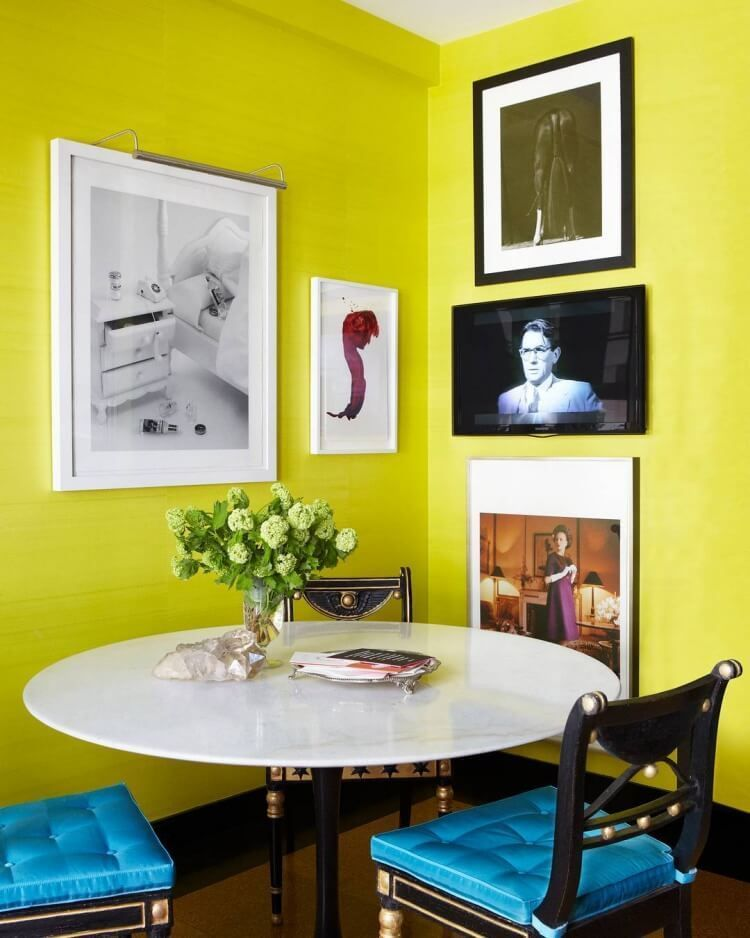 11 Colorful Accent Wall Ideas To Upgrade Your First Apartment : #6 ...