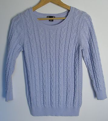 Blue-H-M-Cable-Knit-Sweater-Size-S