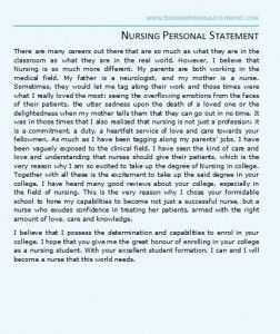 University Entrance Essay Examples A Great Nursing Personal Statement Example For Nursing School