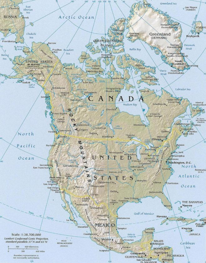 Calgary Canada Map Of North America.North America Travel Guide And Travel Information Yourtripto Com