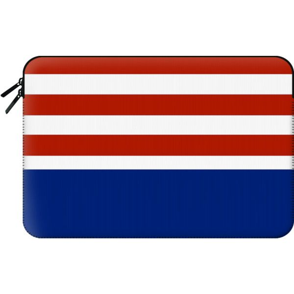 Macbook Sleeve - Red white and blue stripes (81 AUD) ❤ liked on Polyvore featuring accessories, tech accessories и macbook sleeve