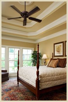 Idea for painting the tray ceiling | Ideas for Master Bedroom | Tray ...
