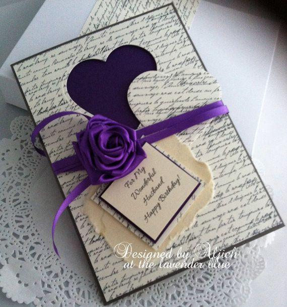 Husband Fiance Birthday Card Handmade Any By Thelavenderblue