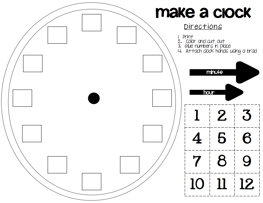 Clock Template With Minutes