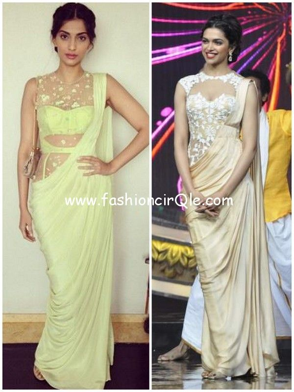 Sonam & Deepika in http://SonaakshiRaaj.in/ signature #Saree Gowns ...