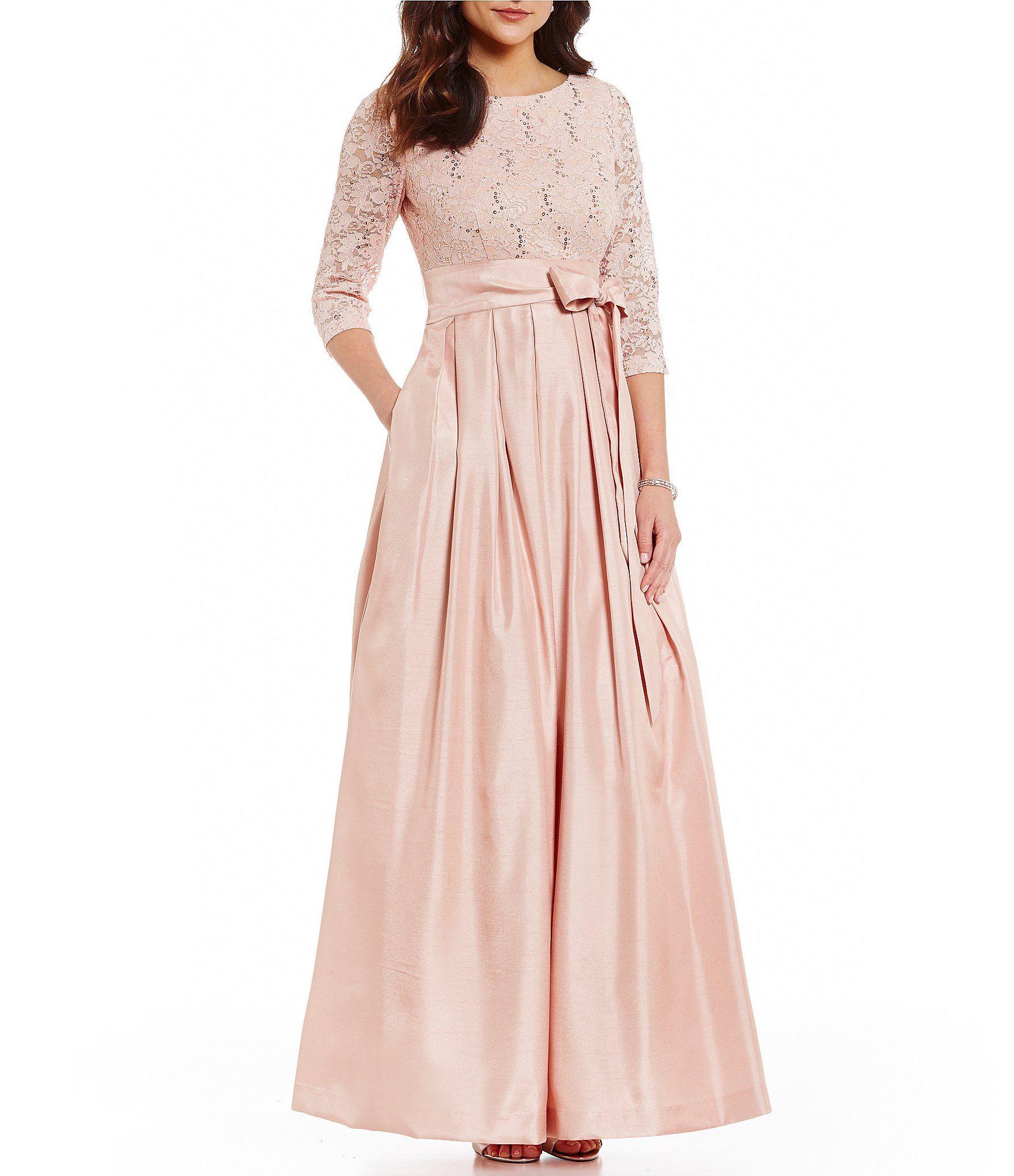 Lujo Vestido De La Dama De Honor Dillards Foto - Colección de ...