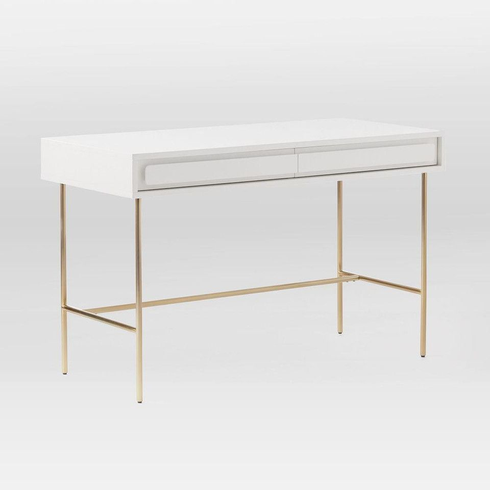 Gemini Desk White Lacquer In 2020 White Desks Furniture Oversized Furniture