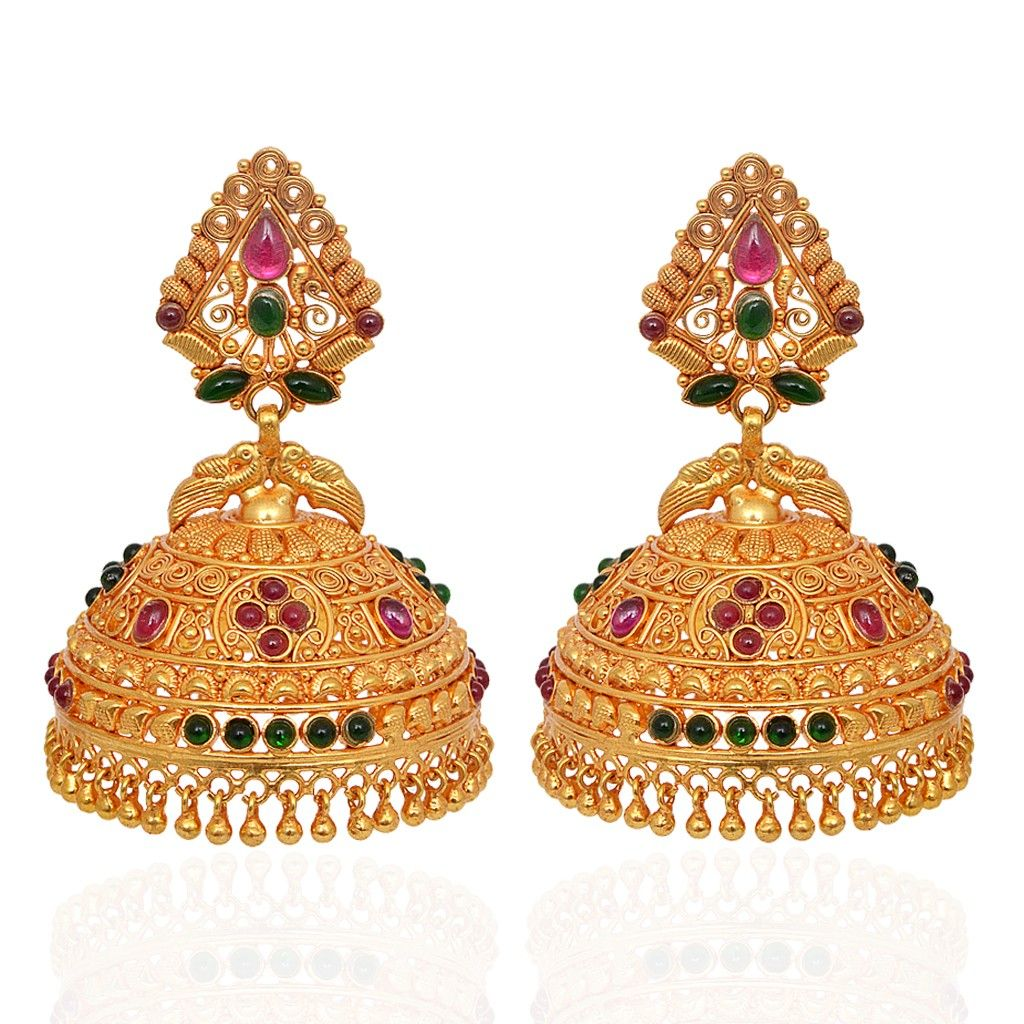 jhumki-Earrings | Beautiful Annapakshi Silver Jimmiki ...