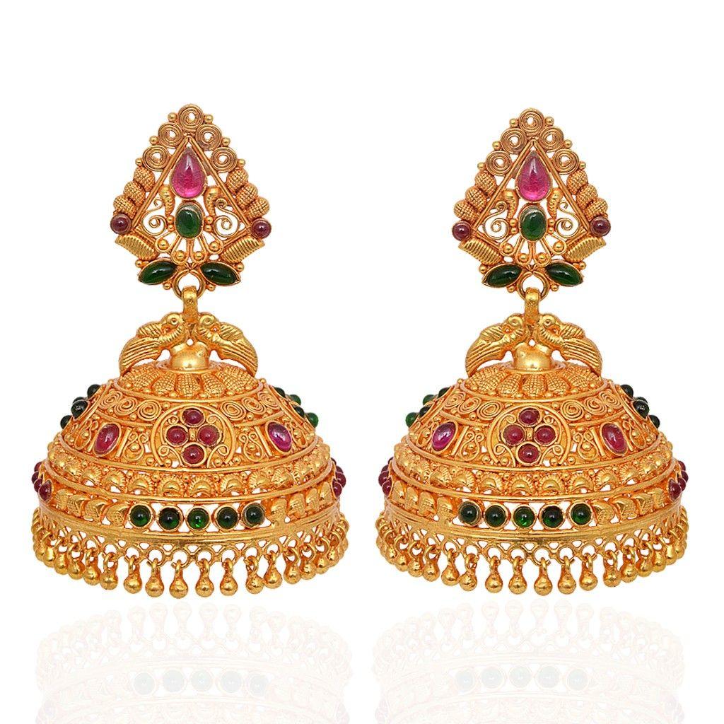 jhumki-Earrings   Beautiful Annapakshi Silver Jimmiki ...