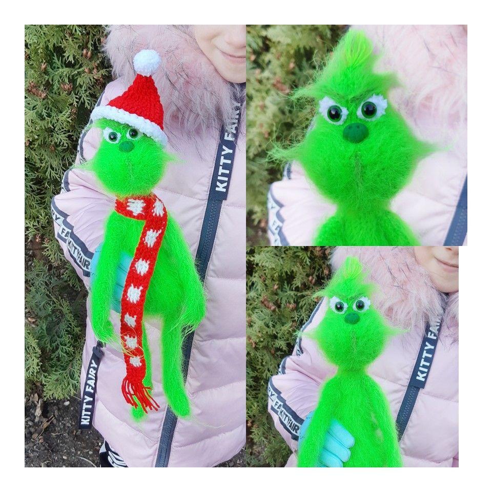 Crochet toy amigurumi mr. Grinch