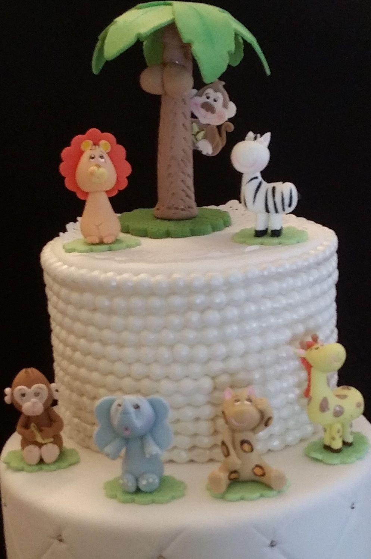Jungle Cake Decorations : Jungle Safari Birthday Cake Decorations, Wild Safari ...
