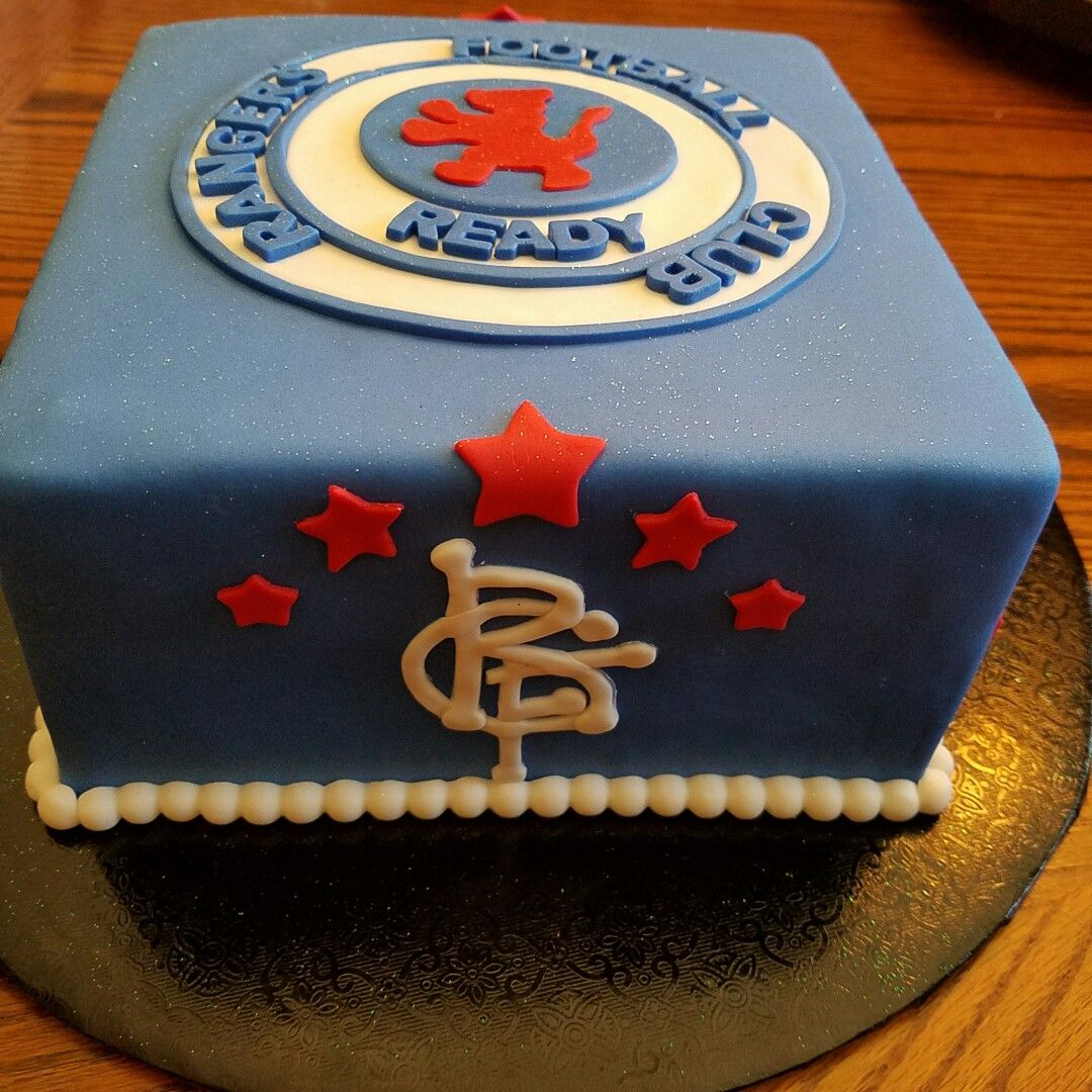 Pin By Ann Capstick On Rangers Cake In 2019 Birthday Cake Toppers