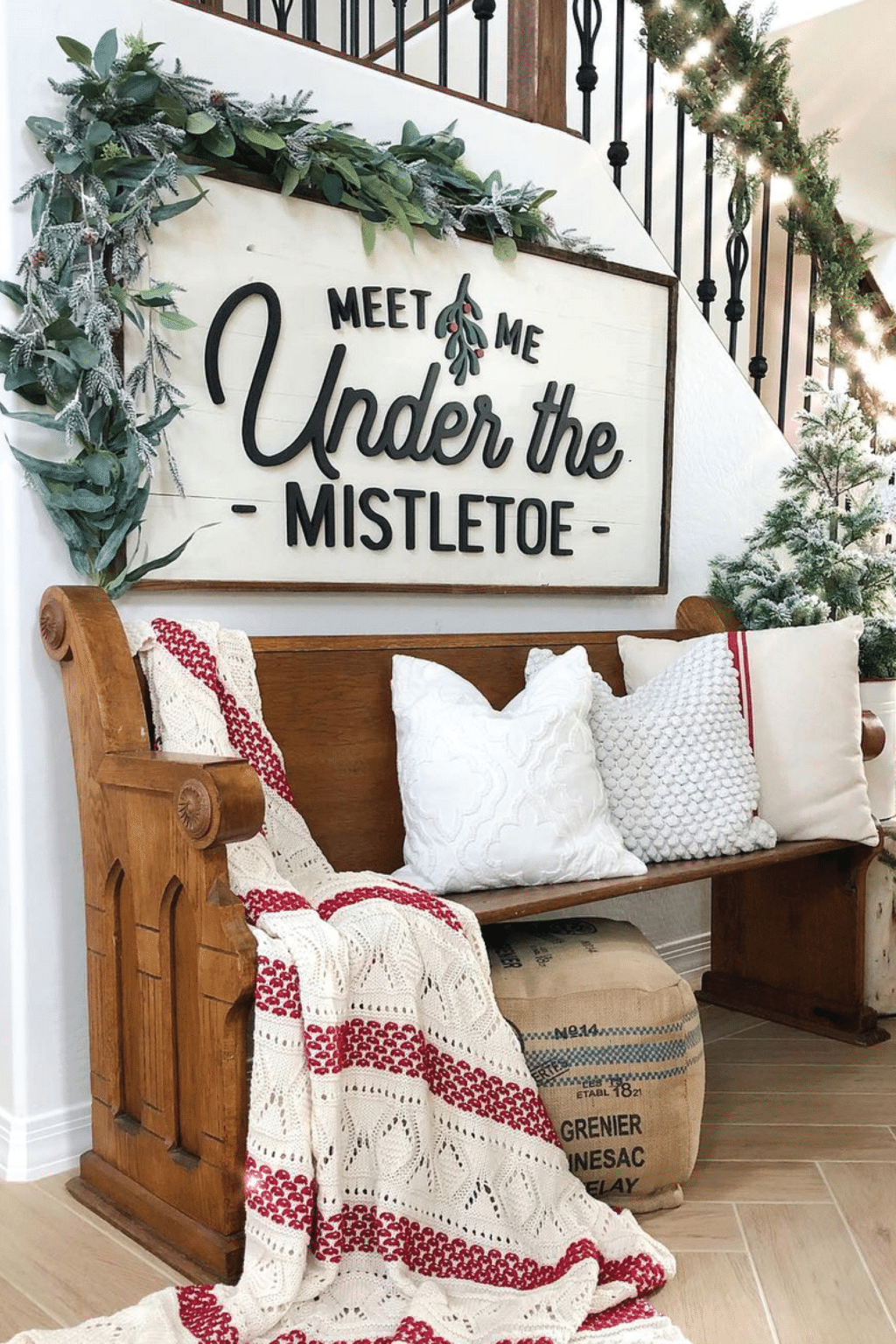 The Best Farmhouse Christmas Decor Inspiration - A huge collection of Farmhouse Christmas Decor inspiration that is completely on-trend, showcasing neutral color palettes with natural materials. #farmhousedecor #christmasdecor #farmhouse #farmhousechristmas #holidayfarmhouse #christmasfarmhousedecor #christmasdecoratingideas #xmasfarmhouse #holidaydecorations #christmasporch #holidaydecor #diychristmasdecor #christmasgarland #christmastabledecor #christmasdecorations #farmhousexmas #neutralchris