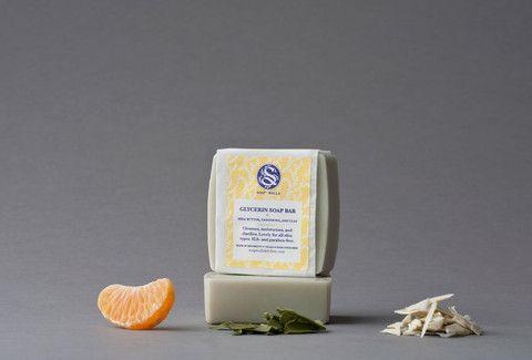 Soapwalla Glycerin Soap Bar - Shea Butter, Tangerine and Clay
