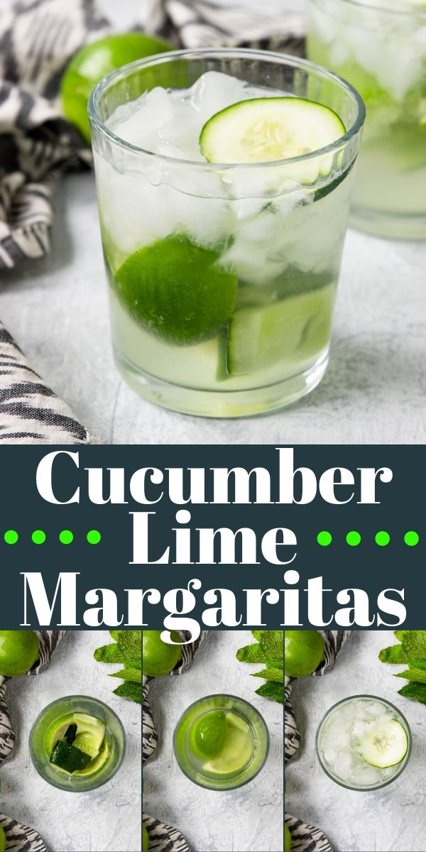 Cucumber Lime Margarita| No juicer or blender required! | Mom's Dinner