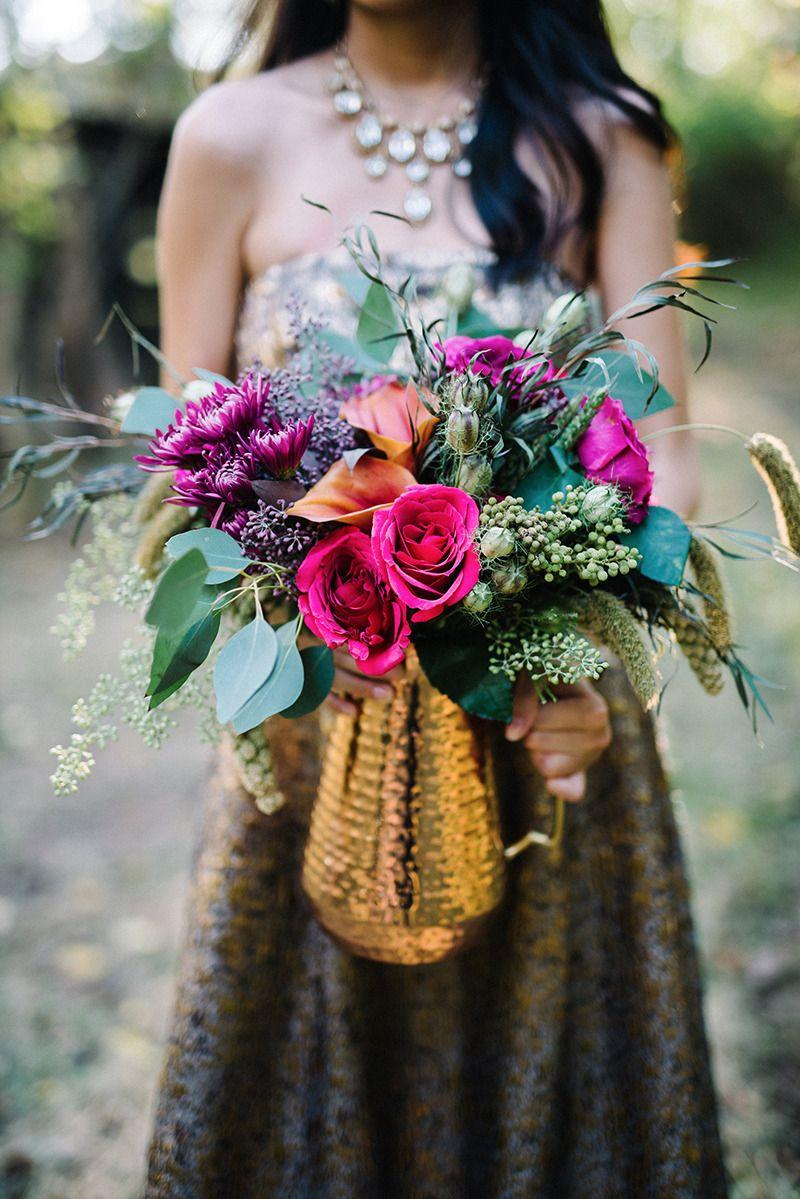 Modern boho glam wedding ideas florals weddings and bridal bouquets