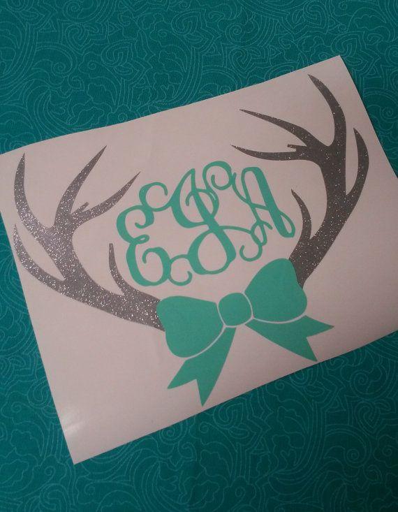 Deer Antler Bow Monogram Deer Monogram Monograms