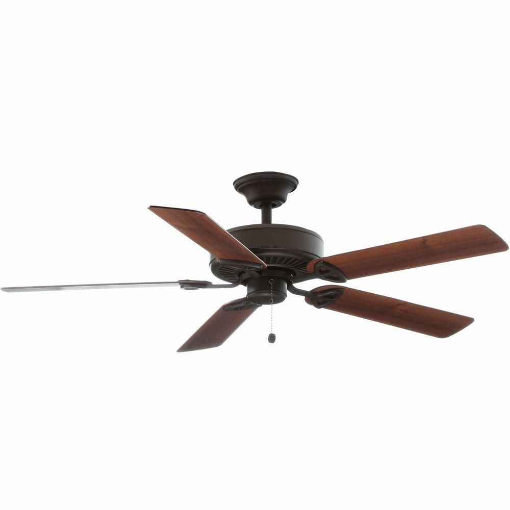 Clarkston 44 In Oiled Rubbed Bronze Ceiling Fan With Light Kit Cf544h Peh The Home Depot Ceiling Fan Bronze Ceiling Fan Fan Light