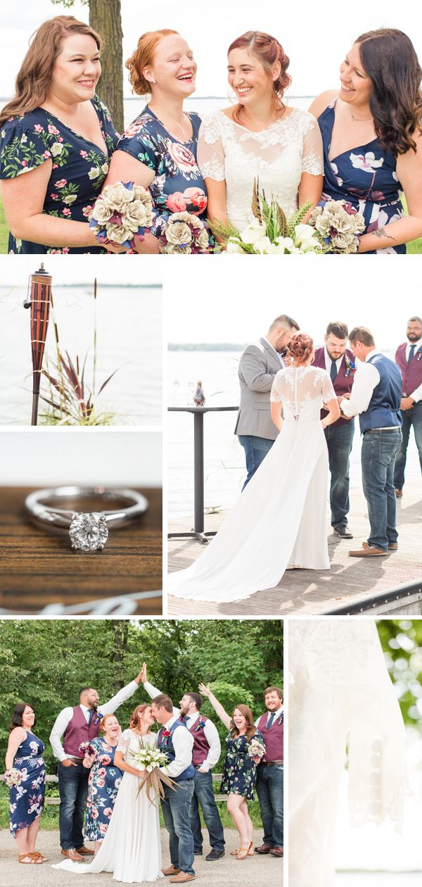 A Lakeside Navy and Floral Wedding at Detroit Lakes, MN