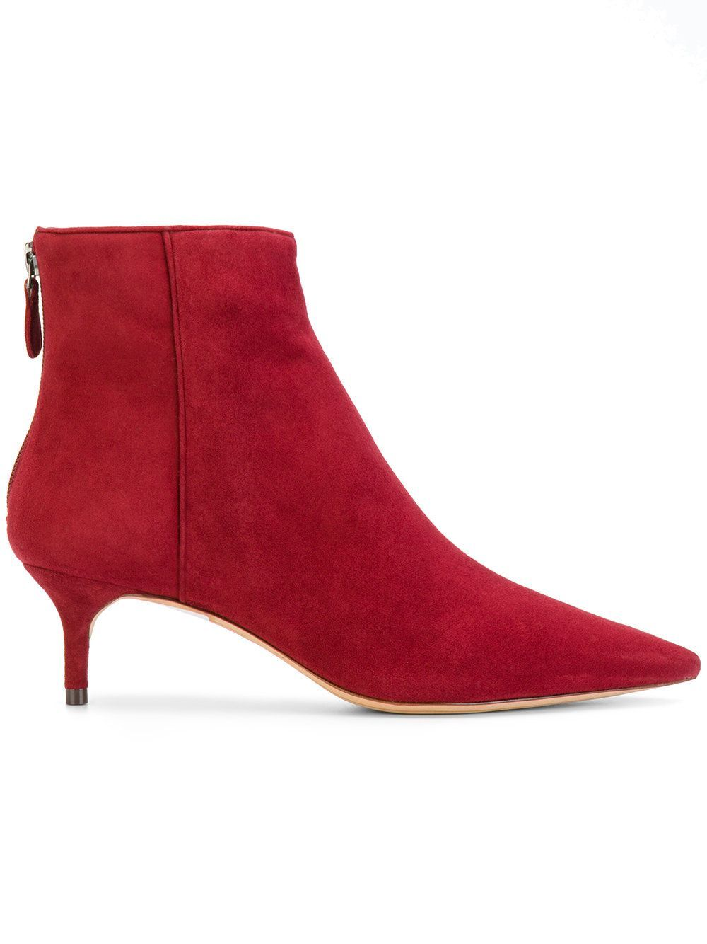 Red Patent Finish Palma Kitten Heel Boots By Acne Studios Kitten Heel Boots Boots Kitten Heel Shoes