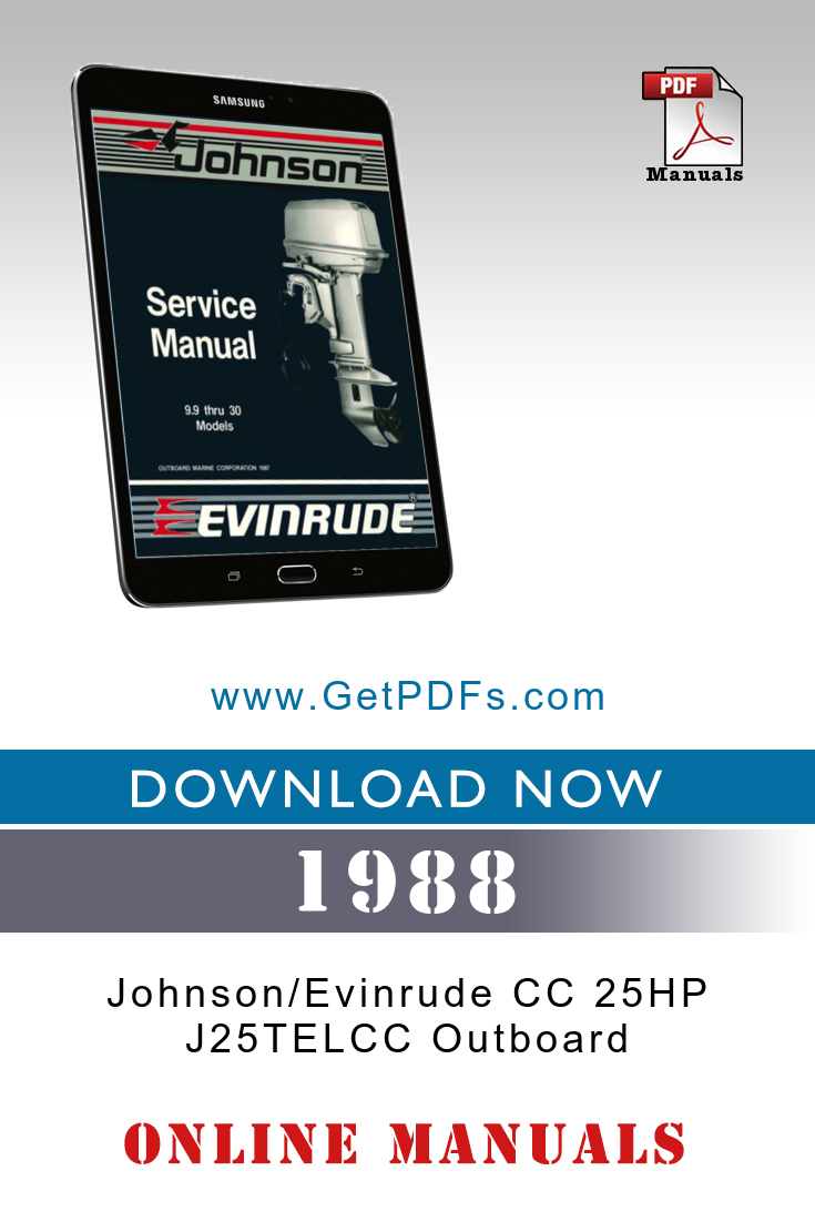 1988 Johnson Evinrude Cc 25hp J25telcc Outboard Outboard Johnson Outboard Motors