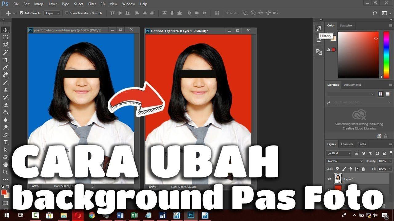 Cara Mengganti Background Pas Foto Biru Jadi Merah Atau Sebaliknya Pas Foto Biru Warna