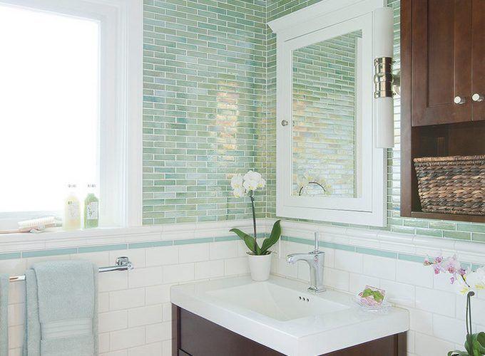 Grünes Badezimmer ~ Besten bad bilder auf badezimmer grüne fliesen und