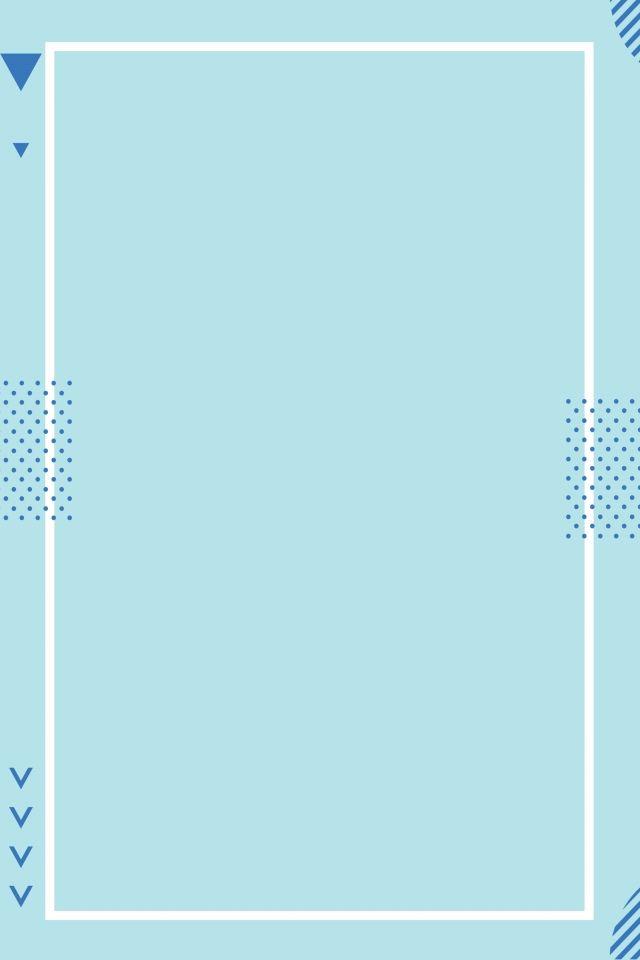 خلفية بيضاء مع إطار كفاف مربع أزرق Abstrak Biru Desain Pamflet