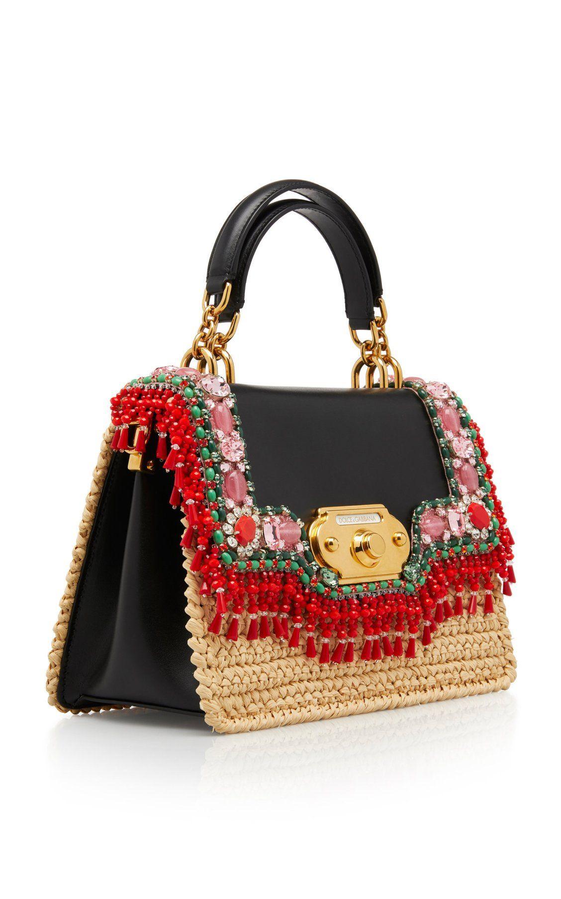 60f2b2acba0 Raffia Welcome Bag by Dolce   Gabbana SS19