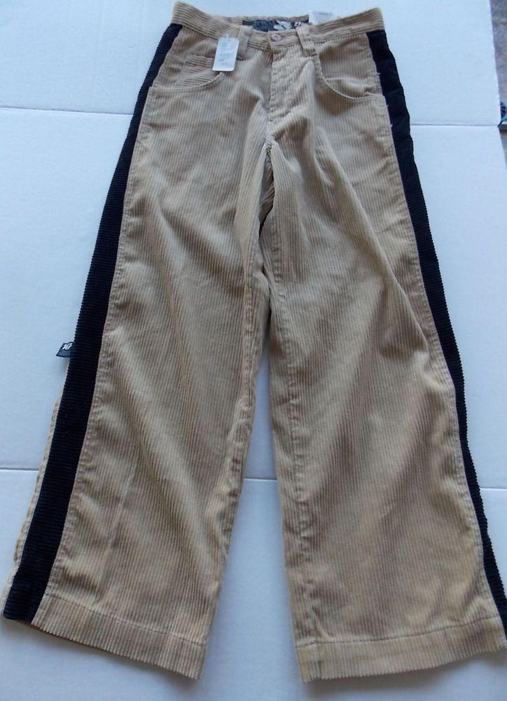 Stripe 30x30 Zebra Jnco Black 90's Corduroy Tan Jeans New W Tags 7bvfIY6gy