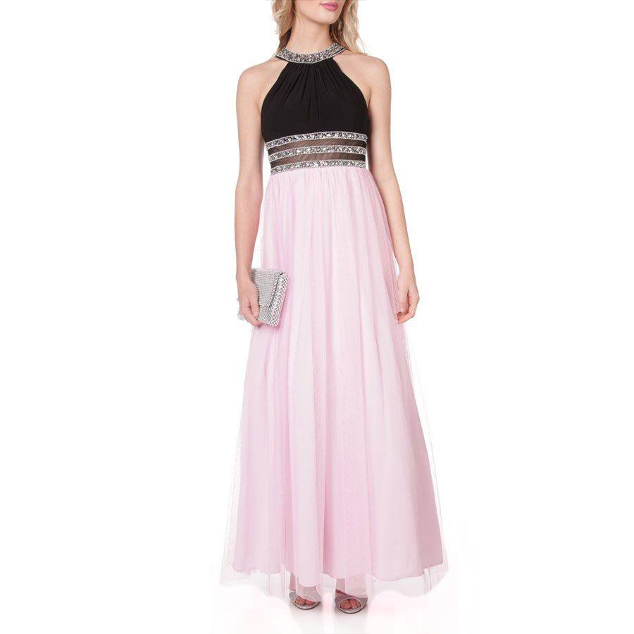 Blondie Nites Juniors Embellished Illusion Waist Gown Prom Dresses Dresses Formal Dresses [ 900 x 900 Pixel ]