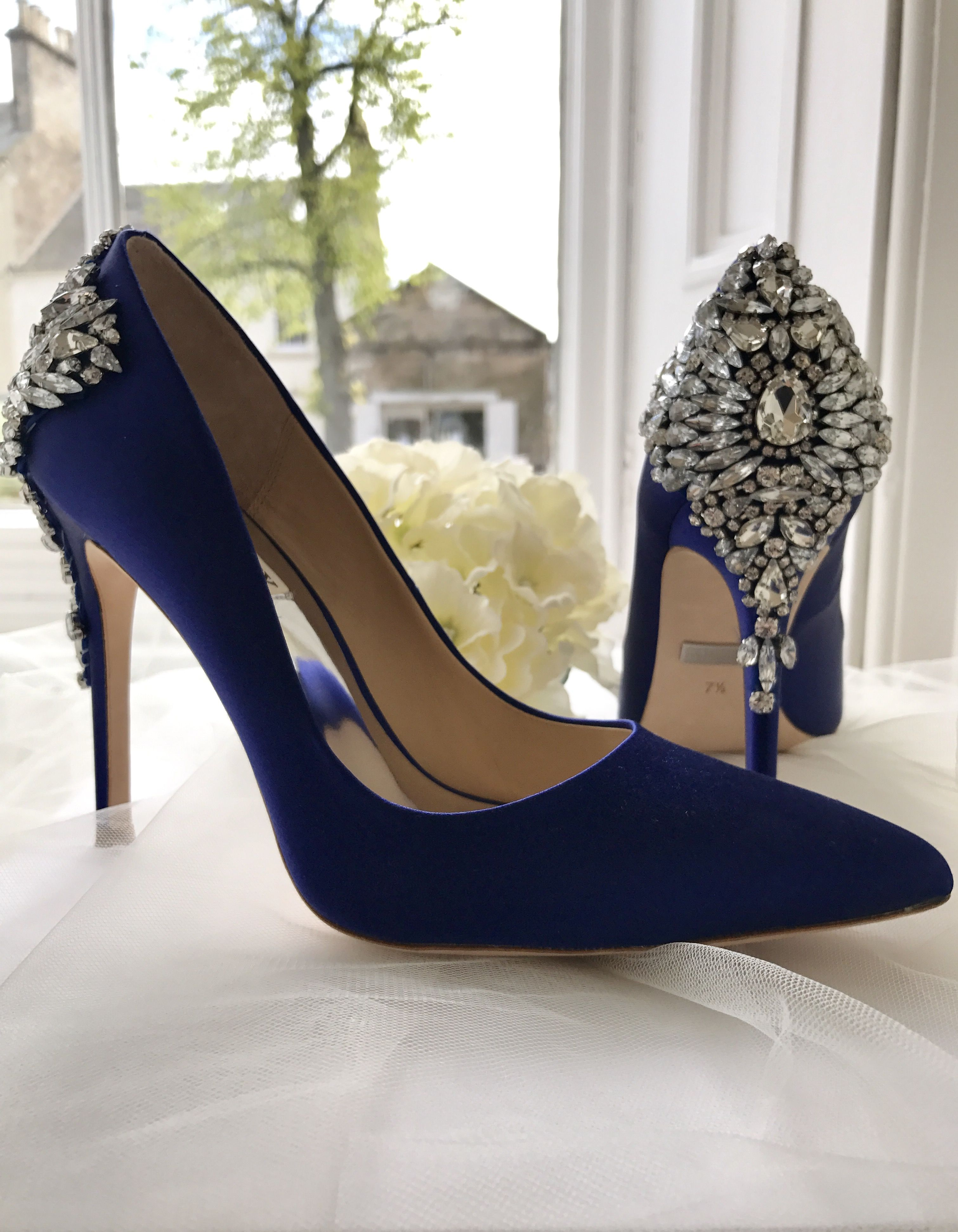 Sparkle In Our Gorgeous Blue Badgley Mischka Shoes Badgley