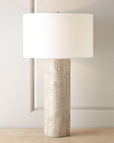 Regina Andrew Design Croc Clover Lamp Light Grey