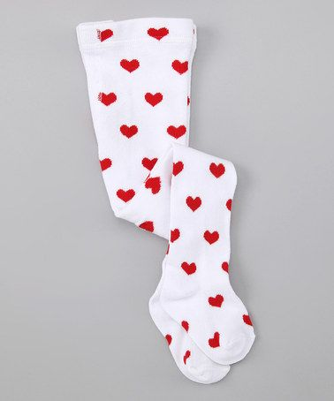 b2263ead783f7 Take a look at this Red & White Lil' Love Tights - Infant & Toddler by  Bearington Collection on #zulily today!