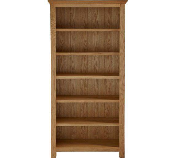 Knightsbridge Large Bookcase Oak Veneer At Argos Co Uk
