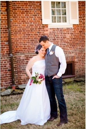 I Love What The Groom Is Wearing Dark Jeans And A Gray Vest