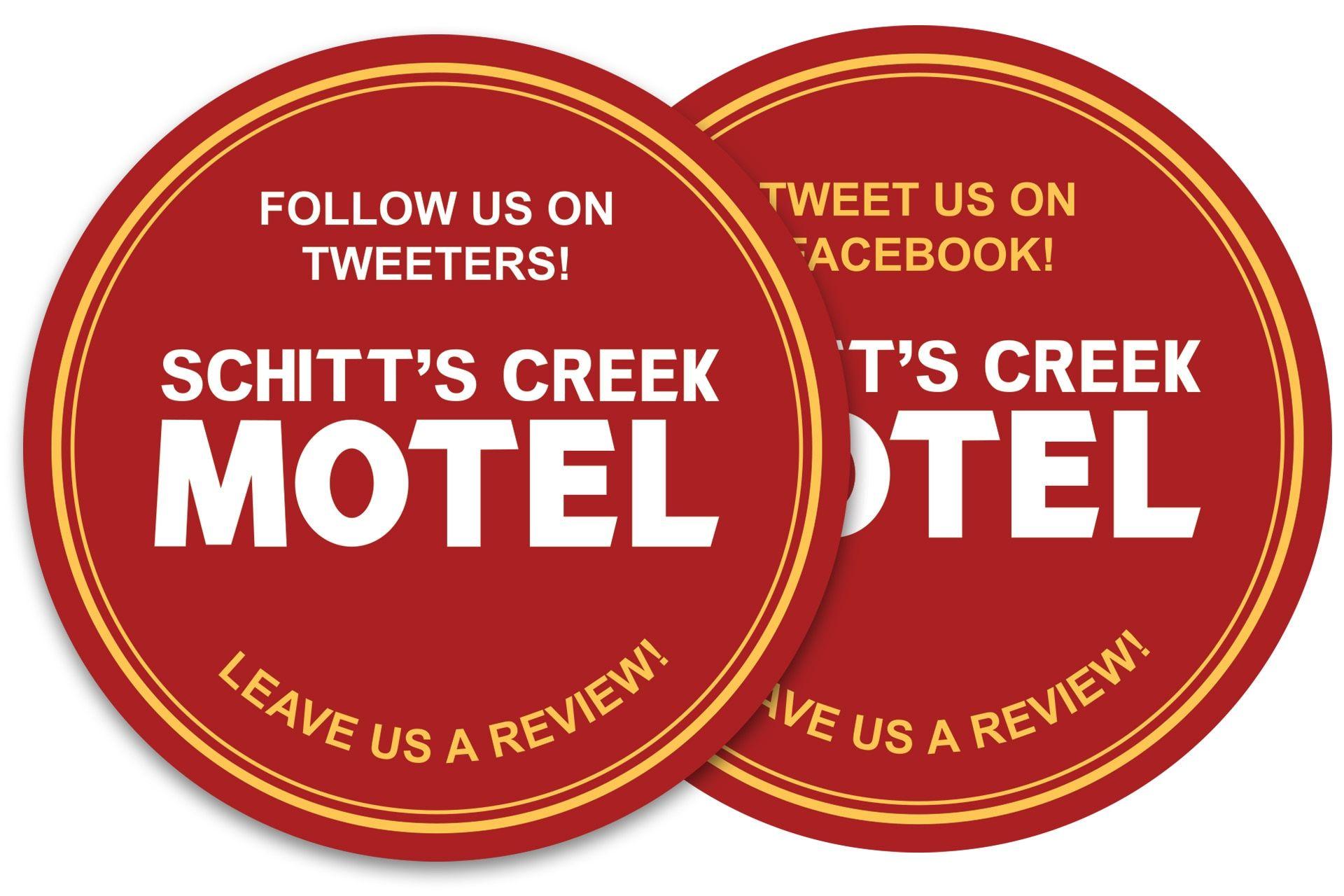 Make Your Own Schitt S Creek Motel Coasters Blog Schitt S Creek Schitts Creek Creek Make It Yourself
