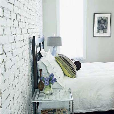 100 Diy Home Upgrades For Under 100 White Wash Brick White Brick Wall Living Room Brick Interior