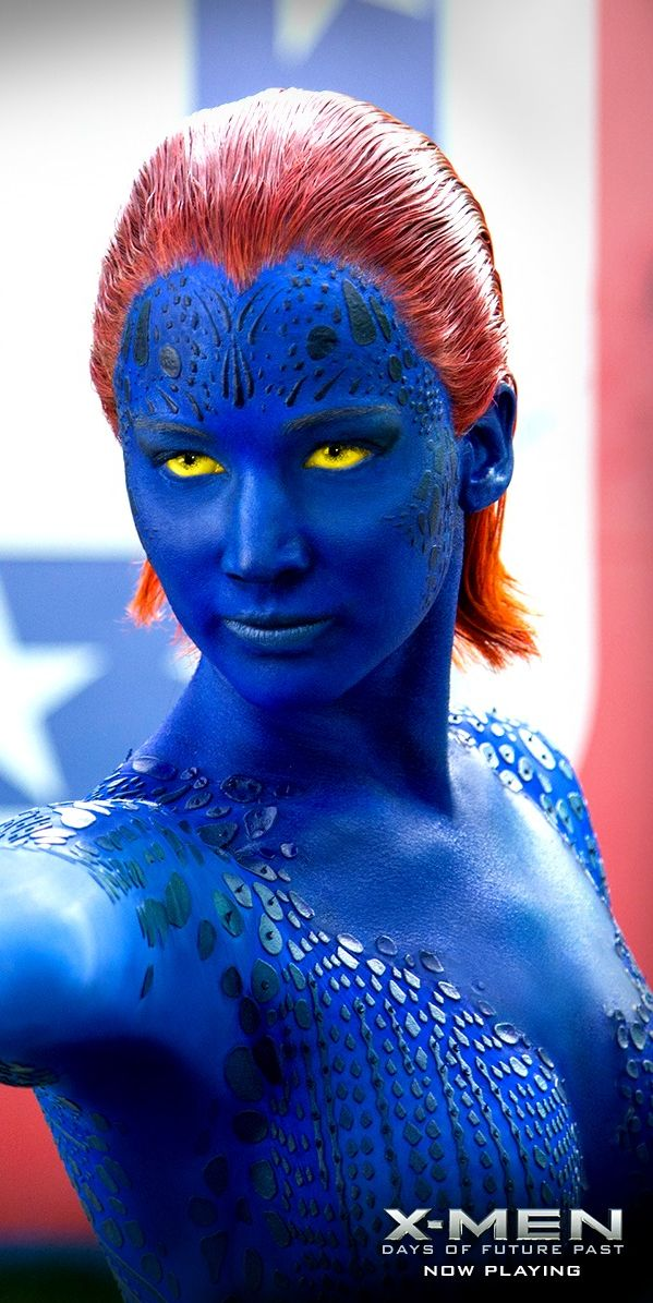 Jennifer Lawrence As Raven Darkholme Aka Mystique X Men First Class X Men Days Of Future Past And X Men Apocalyps Mystique Marvel Jennifer Lawrence Marvel