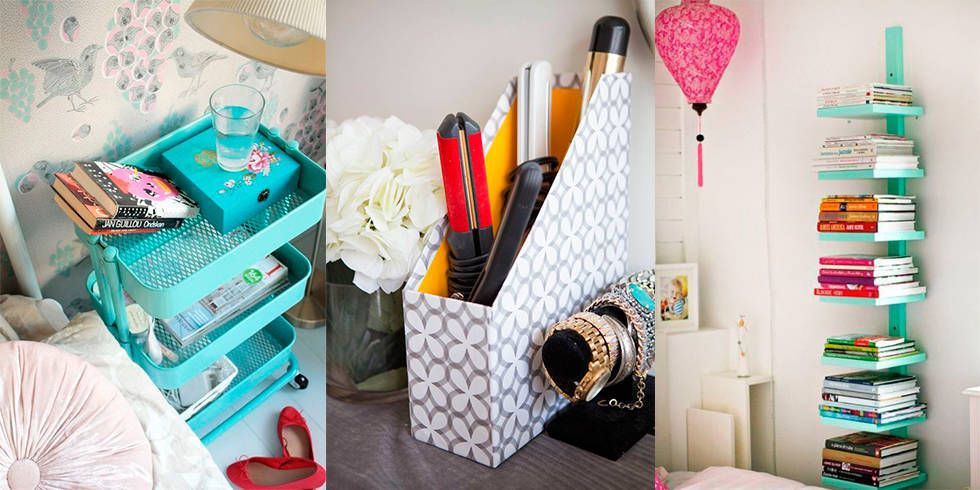 11 clever storage solutions for teeny tiny spaces dorm room hacks pinterest. Black Bedroom Furniture Sets. Home Design Ideas
