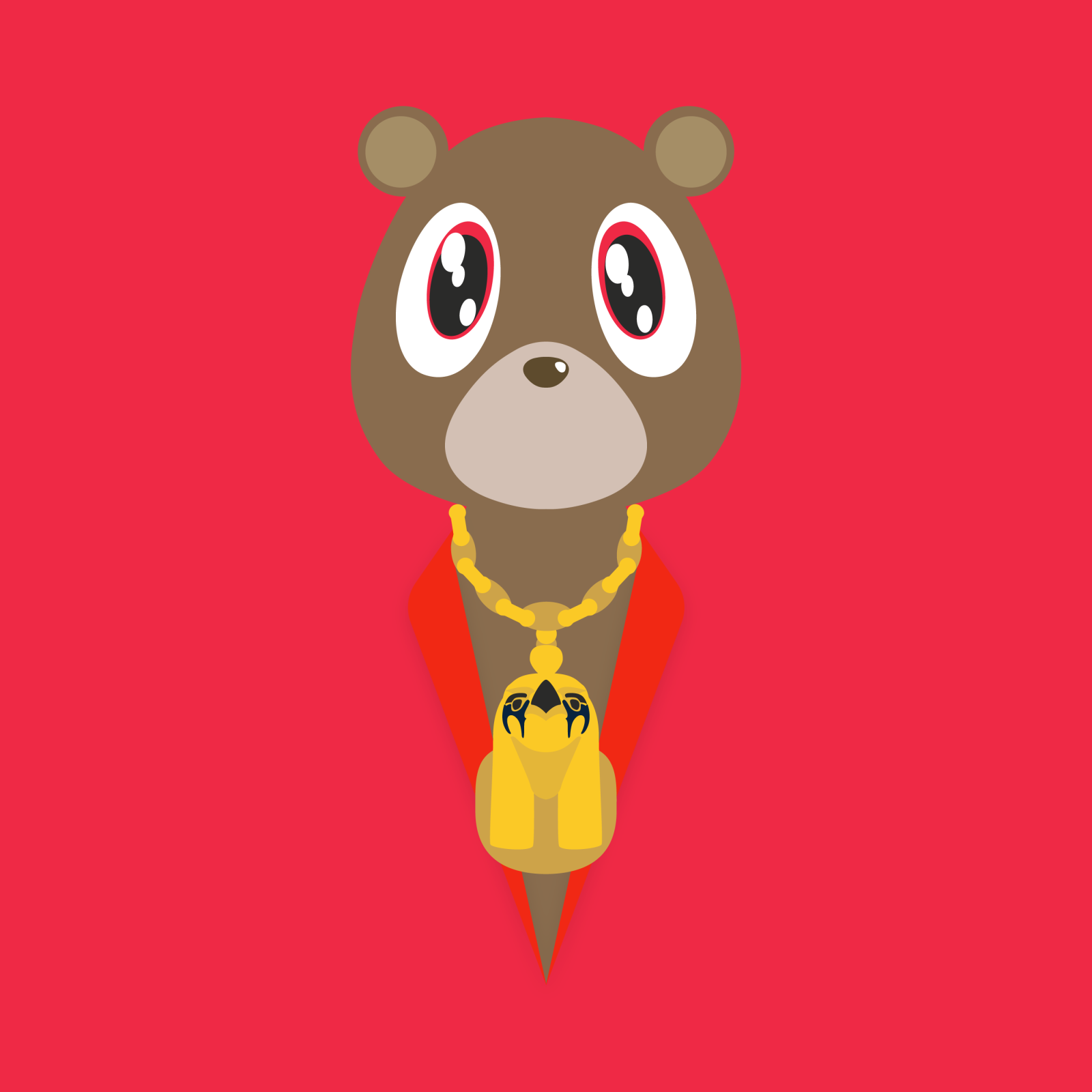 Kanye Bear Yeezy Beautiful Dark Twisted Fantasy Kanye West Bear Kanye West Painting