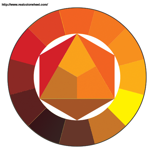 Brown Colors Orange Color Theory Palettes Image Search Google Colour Wheel Art Crochet Stitches