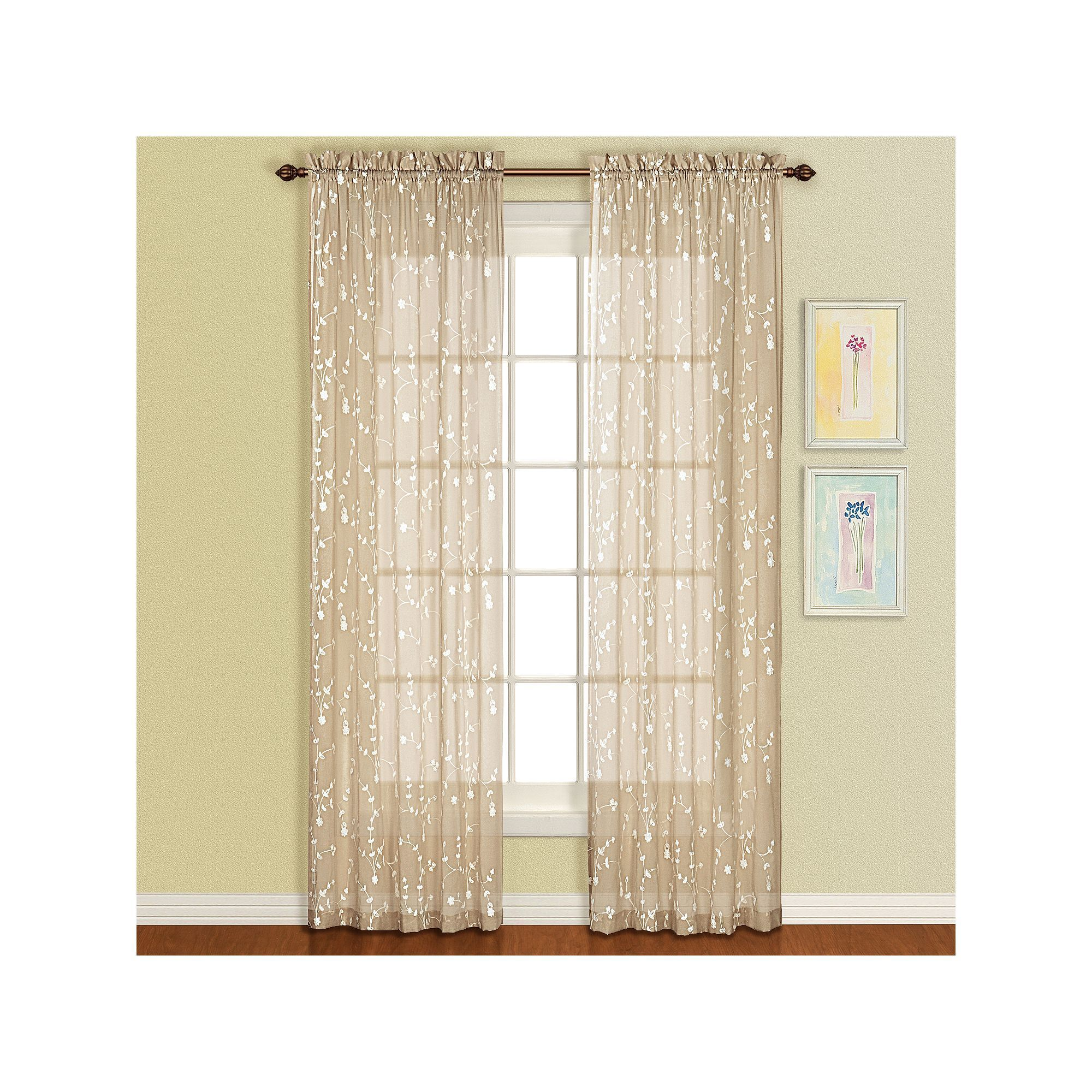 United Curtain Co 1 Panel Savannah Window Curtain With Images