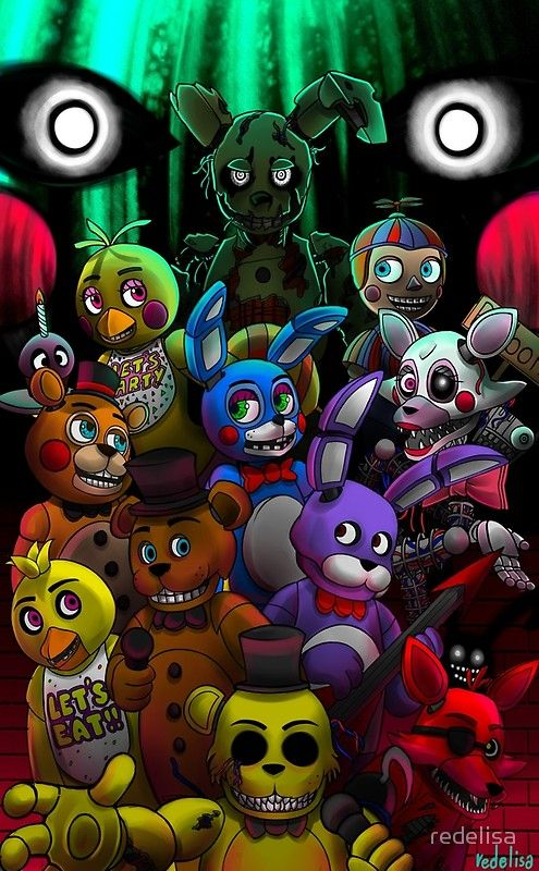 'FNaFall togheter' Poster by redelisa (With images